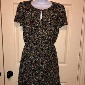 Banana Republic Small S/S Floral Whimsical Dress